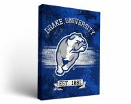 Drake Bulldogs Banner Canvas Wall Art