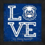 Drake Bulldogs Love My Team Color Wall Decor