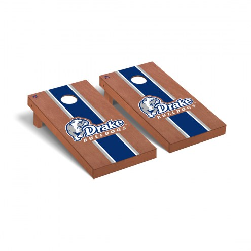 Drake Bulldogs Rosewood Stained Cornhole Game Set