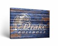 Drake Bulldogs Weathered Canvas Wall Art
