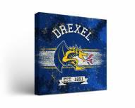 Drexel Dragons Banner Canvas Wall Art