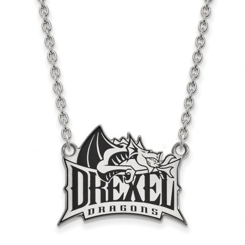 Drexel Dragons NCAA Sterling Silver Large Pendant Necklace