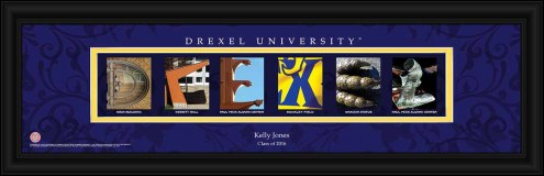 Drexel Dragons Personalized Campus Letter Art