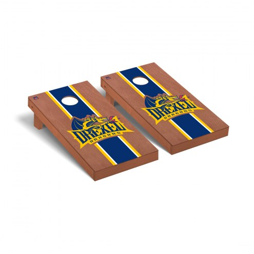 Drexel Dragons Rosewood Stained Stripe Cornhole Game Set