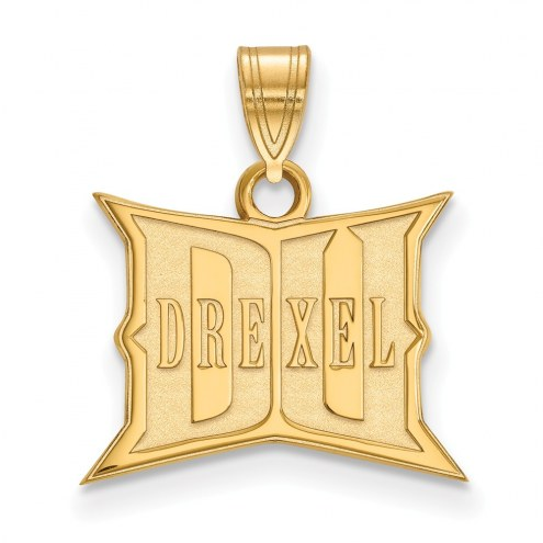 Drexel Dragons Sterling Silver Gold Plated Small Pendant