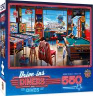 Drive-Ins, Diners and Dives Pockets Pool & Pub 550 Piece Puzzle