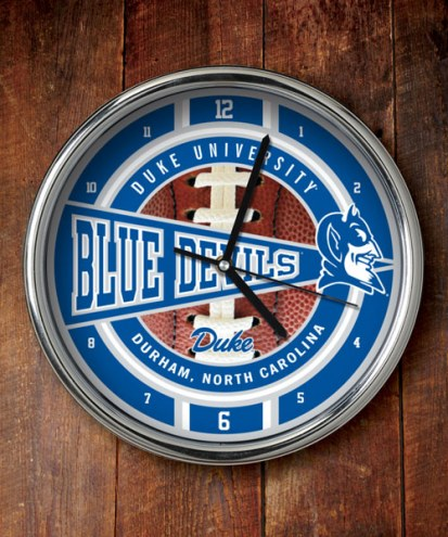 Duke Blue Devils Chrome Wall Clock