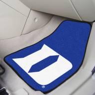 """Duke Blue Devils """"D"""" 2-Piece Carpet Car Mats"""