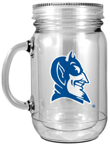 Duke Blue Devils Double Walled Mason Jar