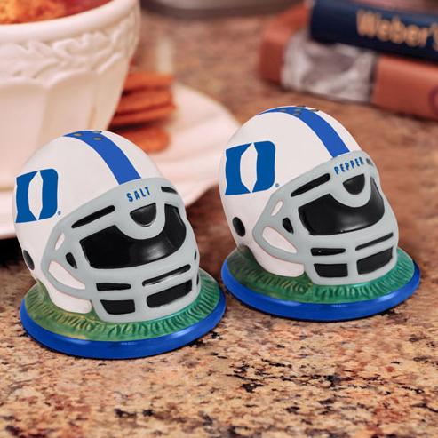 Duke Blue Devils Football Helmet Salt and Pepper Shakers