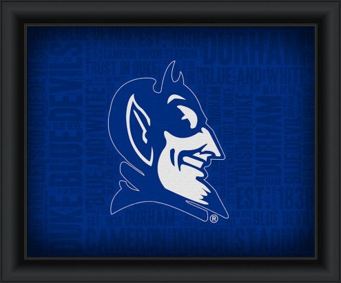 Duke Blue Devils Framed Word Cloud