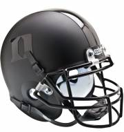 Duke Blue Devils Matte Black Schutt Mini Football Helmet