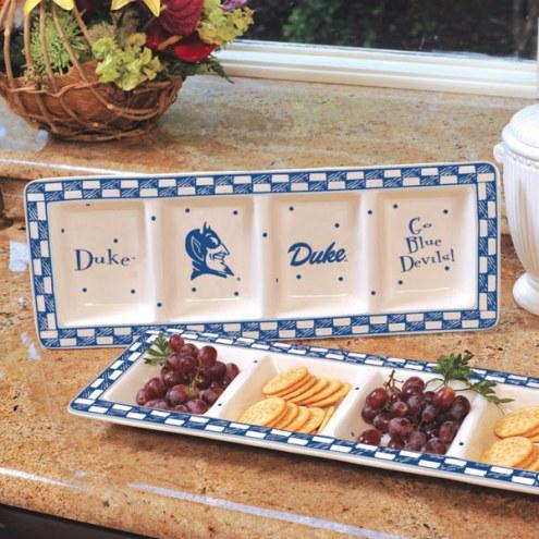 Duke Blue Devils NCAA Ceramic Relish Tray