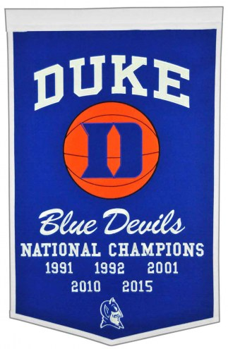 Winning Streak Duke Blue Devils NCAA Basketball Dynasty Banner
