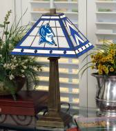 Duke Blue Devils Stained Glass Mission Table Lamp