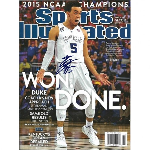"Duke Blue Devils Tyus Jones Sports Illustrated Magazine Signed 16"" x 20"" Photo"