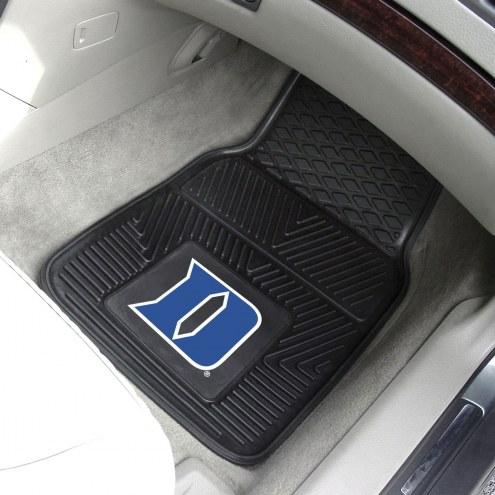 Duke Blue Devils Vinyl 2-Piece Car Floor Mats