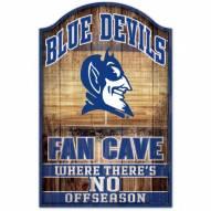 Duke Blue Devils Fan Cave Wood Sign
