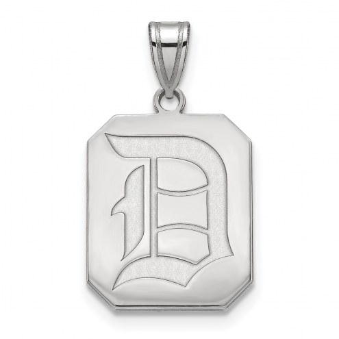 Duquesne Dukes 10k White Gold Large Pendant