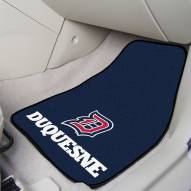 Duquesne Dukes 2-Piece Carpet Car Mats