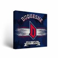 Duquesne Dukes Banner Canvas Wall Art