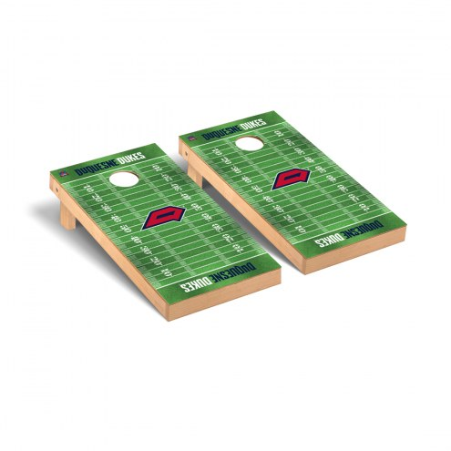 Duquesne Dukes Football Field Cornhole Game Set