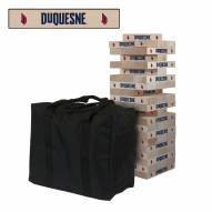 Duquesne Dukes Giant Wooden Tumble Tower Game