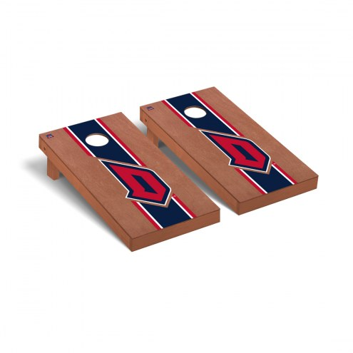 Duquesne Dukes Rosewood Stained Cornhole Game Set
