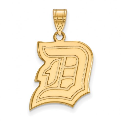 Duquesne Dukes Sterling Silver Gold Plated Large Pendant