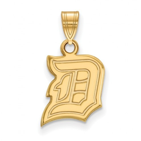 Duquesne Dukes Sterling Silver Gold Plated Small Pendant