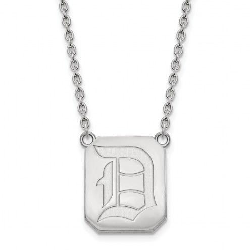 Duquesne Dukes Sterling Silver Large Pendant Necklace