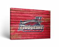 Duquesne Dukes Weathered Canvas Wall Art