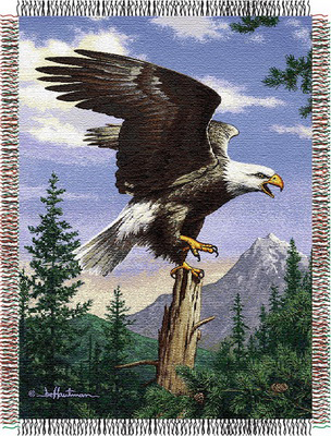 Eagle Perch Throw Blanket