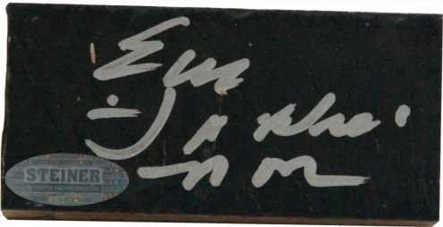 "Earl Monroe Signed 2x4 Court Piece with ""Pearl"""