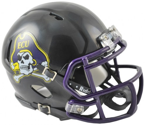 East Carolina Pirates Riddell Speed Mini Collectible Black Football Helmet