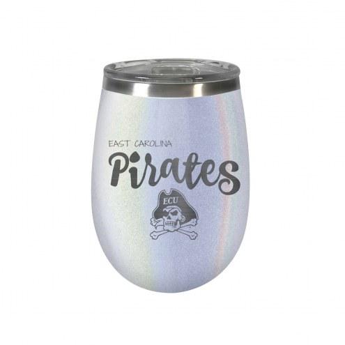 East Carolina Pirates 10 oz. Opal Blush Wine Tumbler