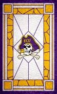 """East Carolina Pirates 11"""" x 19"""" Stained Glass Sign"""
