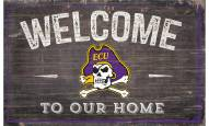 """East Carolina Pirates 11"""" x 19"""" Welcome to Our Home Sign"""