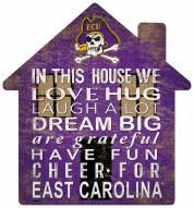 "East Carolina Pirates 12"" House Sign"