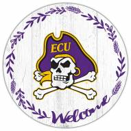 "East Carolina Pirates 12"" Welcome Circle Sign"
