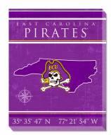 "East Carolina Pirates 16"" x 20"" Coordinates Canvas Print"