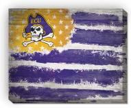 "East Carolina Pirates 16"" x 20"" Flag Canvas Print"