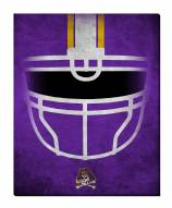 "East Carolina Pirates 16"" x 20"" Ghost Helmet Canvas Print"