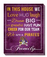 """East Carolina Pirates 16"""" x 20"""" In This House Canvas Print"""