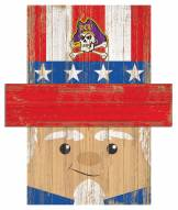 "East Carolina Pirates 19"" x 16"" Patriotic Head"