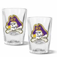 East Carolina Pirates 2 oz. Prism Shot Glass Set