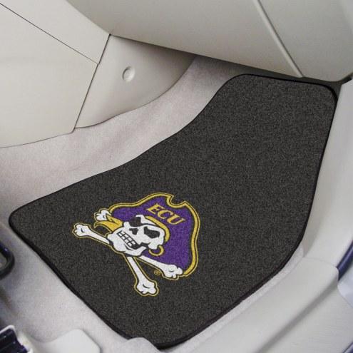 East Carolina Pirates 2-Piece Carpet Car Mats
