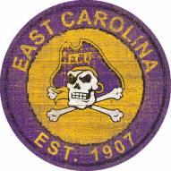 "East Carolina Pirates 24"" Heritage Logo Round Sign"