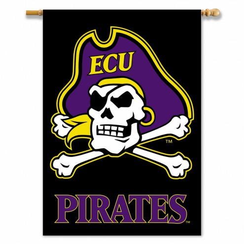 "East Carolina Pirates 28"" x 40"" Two-Sided Banner"