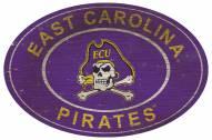 "East Carolina Pirates 46"" Heritage Logo Oval Sign"